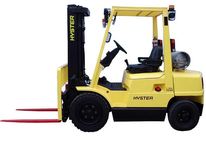 Empilhadeira HYSTER H80XM, capacidade 4Ton, torre DUPLEX 4000 mm, deslocador lateral, movida a gás.